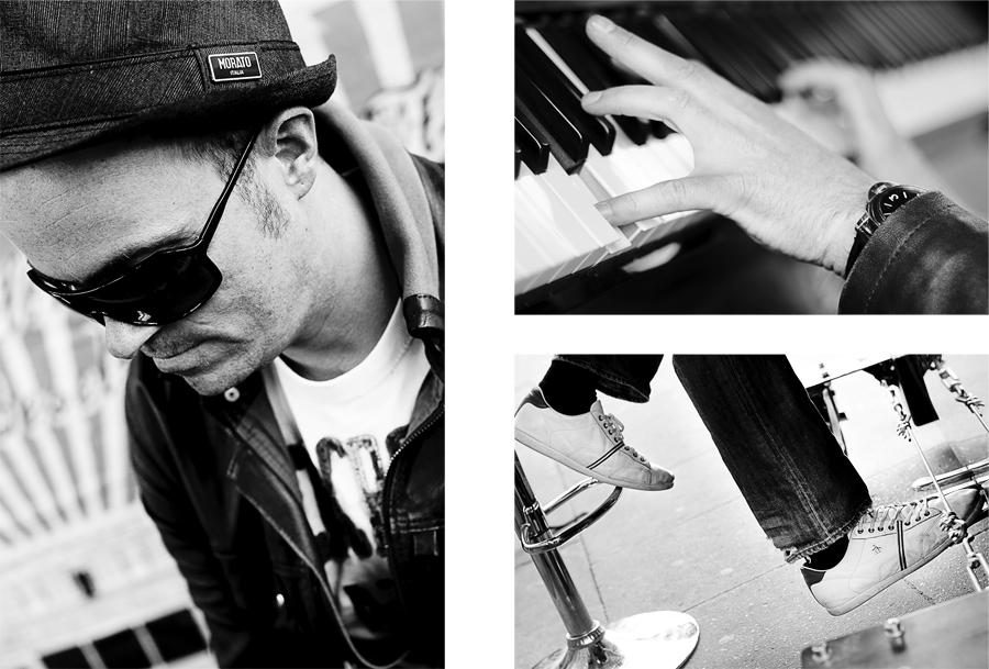 Sven, Straßen-Pianist, Hamburg