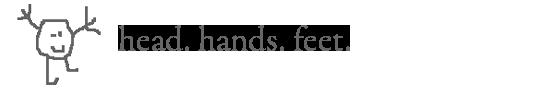 head. hands. feet. logo